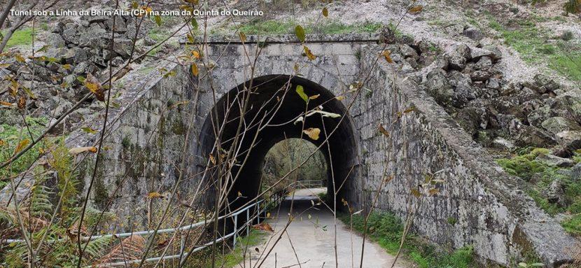 Túnel sob a Linha da Beira Alta (CP) na zona do Queirão